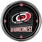Carolina Hurricanes Go Team! Chrome Clock