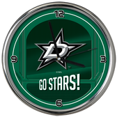 Dallas Stars Go Team! Chrome Clock