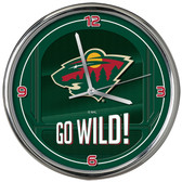 Minnesota Wild Go Team! Chrome Clock