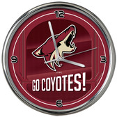 Phoenix Coyotes Go Team! Chrome Clock