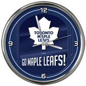 Toronto Maple Leafs Go Team! Chrome Clock