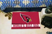 """Arizona Cardinals Worlds Best Dad Starter Rug 19""""x30"""""""