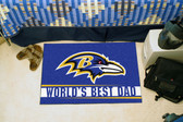 """Baltimore Ravens Worlds Best Dad Starter Rug 19""""x30"""""""