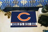 """Chicago Bears Worlds Best Dad Starter Rug 19""""x30"""""""