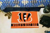 """Cincinnati Bengals Worlds Best Dad Starter Rug 19""""x30"""""""