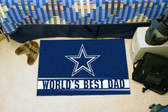 "Dallas Cowboys Worlds Best Dad Starter Rug 19""x30"""