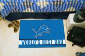 """Detroit Lions Worlds Best Dad Starter Rug 19""""x30"""""""