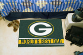 "Green Bay Packers Worlds Best Dad Starter Rug 19""x30"""