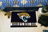 """Jacksonville Jaguars Worlds Best Dad Starter Rug 19""""x30"""""""