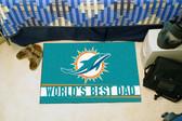 """Miami Dolphins Worlds Best Dad Starter Rug 19""""x30"""""""