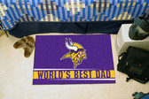 "Minnesota Vikings Worlds Best Dad Starter Rug 19""x30"""