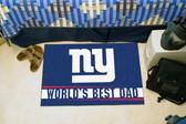 """New York Giants Worlds Best Dad Starter Rug 19""""x30"""""""
