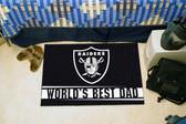 """Oakland Raiders Worlds Best Dad Starter Rug 19""""x30"""""""