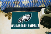 "Philadelphia Eagles Worlds Best Dad Starter Rug 19""x30"""