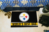 "Pittsburgh Steelers Worlds Best Dad Starter Rug 19""x30"""