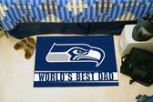 """Seattle Seahawks Worlds Best Dad Starter Rug 19""""x30"""""""