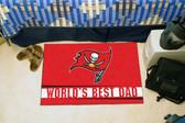 "Tampa Bay Buccaneers Worlds Best Dad Starter Rug 19""x30"""