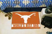 """Texas Longhorns Worlds Best Dad Starter Rug 19""""x30"""""""
