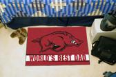 """Arkansas Razorbacks Worlds Best Dad Starter Rug 19""""x30"""""""