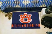 """Auburn Tigers Worlds Best Dad Starter Rug 19""""x30"""""""