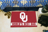 "Oklahoma Sooners Worlds Best Dad Starter Rug 19""x30"""
