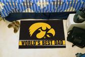 """Iowa Hawkeyes Worlds Best Dad Starter Rug 19""""x30"""""""