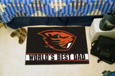 "Oregon State Beavers Worlds Best Dad Starter Rug 19""x30"""