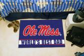 "Ole Miss Rebels Worlds Best Dad Starter Rug 19""x30"""