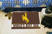 """Wyoming Cowboys Worlds Best Dad Starter Rug 19""""x30"""""""