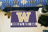 """Washington Huskies Worlds Best Dad Starter Rug 19""""x30"""""""