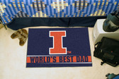 "Illinois Fighting Illini Worlds Best Dad Starter Rug 19""x30"""