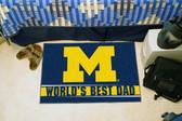 """Michigan Wolverines Worlds Best Dad Starter Rug 19""""x30"""""""