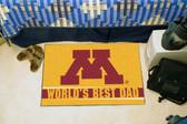 """Minnesota Golden Gophers Worlds Best Dad Starter Rug 19""""x30"""""""