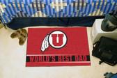 """Utah Utes Worlds Best Dad Starter Rug 19""""x30"""""""