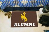"Wyoming Cowboys Alumni Starter Rug 19""x30"""