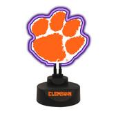 Clemson Tiger Team Logo Neon Lamp