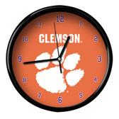 Clemson Tigers Black Rim Clock - Basic