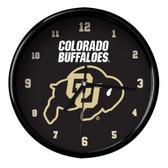 Colorado Buffaloes Black Rim Clock - Basic