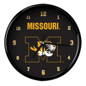 Missouri Tigers Black Rim Clock - Basic
