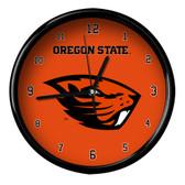 Oregon State Beavers Black Rim Clock