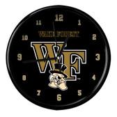 Wake Forest Demon Deacons Black Rim Clock
