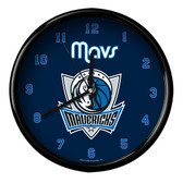 Dallas Mavericks Logo Black Rim Clock