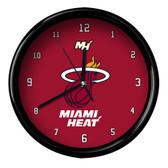 Miami Heat Logo Black Rim Clock