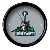 Minnesota Timberwolves Logo Black Rim Clock