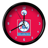 Philadelphia 76ers Logo Black Rim Clock