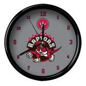 Toronto Raptors Logo Black Rim Clock