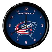 Columbus Blue Jackets Black Rim Clock - Basic