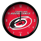 Carolina Hurricanes Black Rim Clock - Basic