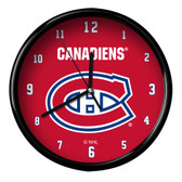 Montreal Canadiens Black Rim Clock - Basic