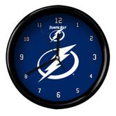 Tampa Bay Lightning Black Rim Clock - Basic